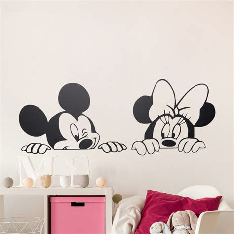 mickey mouse bedroom stickers wall decal design adorable mickey and minnie wall decals