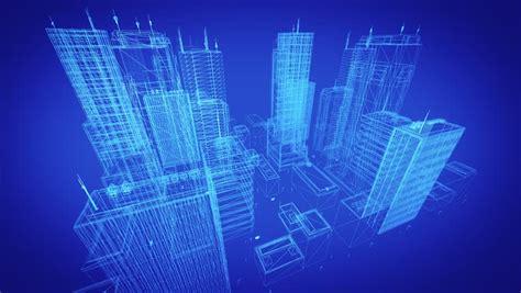 Blueprint Houses architectural blueprint of contemporary buildings blue