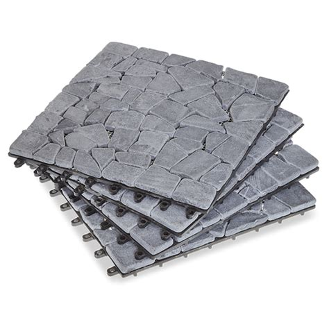 gray stone deck tiles box   garden winds