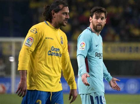 controversy erupts over lionel messi s love live tattoo barcelona s title hopes dented by draw at las palmas
