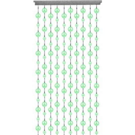 peace sign beaded curtains geekshive beaded curtain glow in the dark peace sign