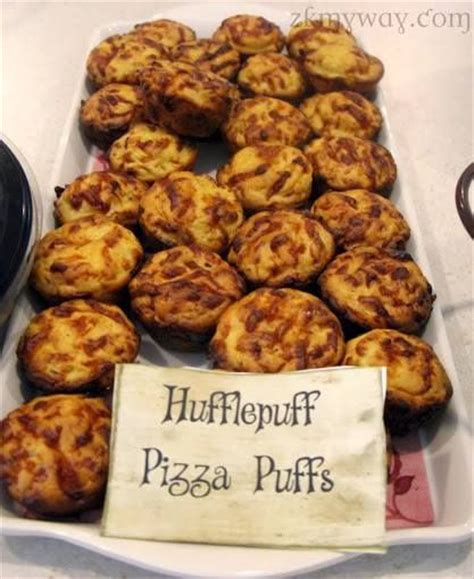 Eats Chow Like Harry Potter by Hufflepuff Pizza Puffs Harry Potter Birthday