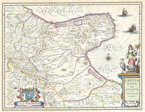 map of foggia italy file 1630 blaeu map of capitanata foggia italy
