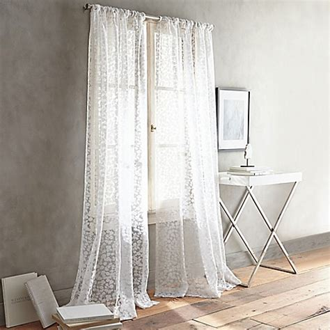 dkny curtains drapes buy dkny halo 108 inch rod pocket sheer window curtain