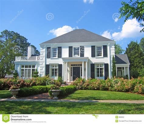 white colonial homes white colonial home stock photography image 888682