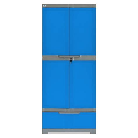 nilkamal freedom 2 door cabinet with 2 drawers brown buy nilkamal freedom cabinet with 1 drawer