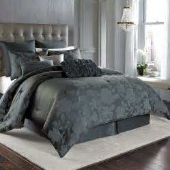 Nicole miller midnight floral comforter set from beddingstyle com