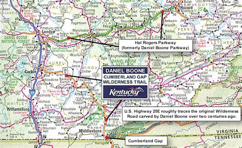 kentucky map cumberland gap daniel boone cumberland gap wilderness trail the boone