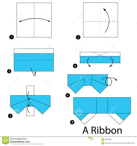 How To Make A Origami Ribbon - step by step how to make origami a ribbon
