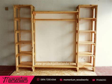 Rak Display Baju Second kursi kayu jati belanda berbagai macam furnitur kayu