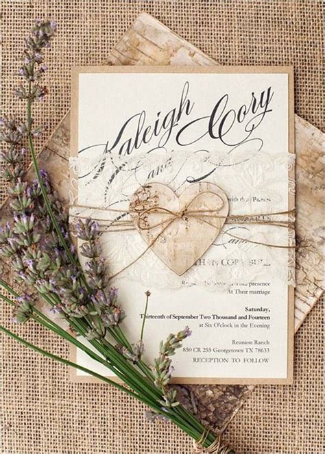 country wedding invitations top 15 popular rustic wedding invitaitons idea sles on