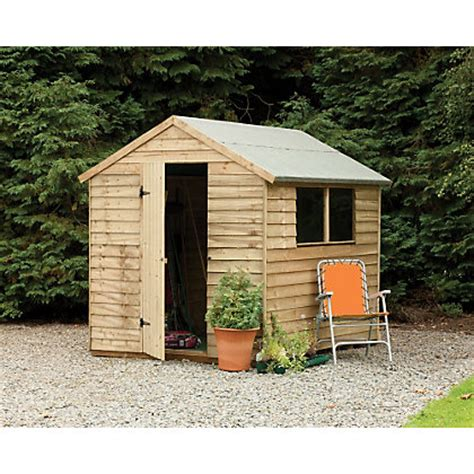 Homebase Sheds by Larchlap Pressure Treated Shed 8x6ft At Homebase Be