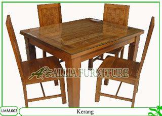Meja Makan Hpl kursi meja makan klender minimalis kerang allia furniture