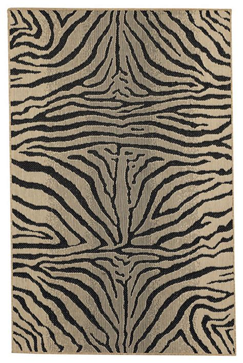 Zebra Print Indoor Outdoor Rug Zebra Belgique Indoor Outdoor Rug Traditional Outdoor Rugs By Ballard Designs