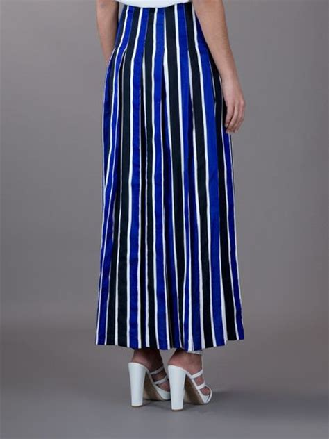 marni striped skirt in blue lyst