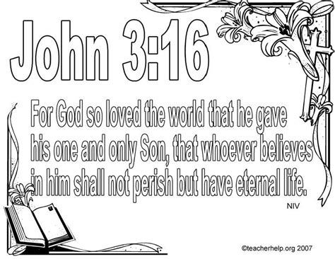 sunday school coloring pages with bible verses john 3 16 bible verse coloring page jpg 827 215 639 adult