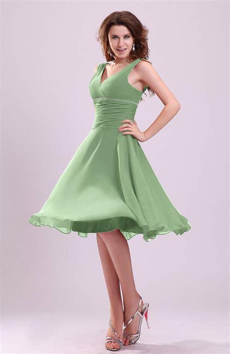 sage green bridesmaid dress cute   sleeveless
