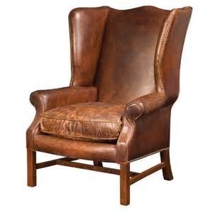 Leather Wingback Chair Recliner by Wingback Arm Chair In Cigar Leather