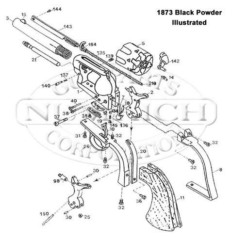 revolver parts diagram 1873 black powder accessories numrich gun parts