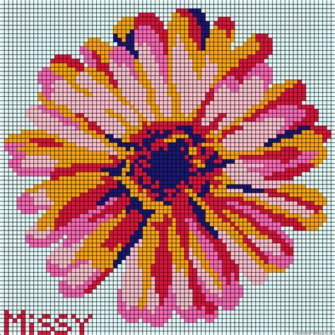 Flower Perler Bead Pattern Punto De 3