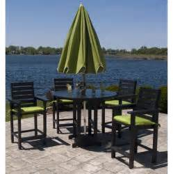 High Top Patio Table Set Polywood Captain Hi Top Patio Set Furniture For Patio