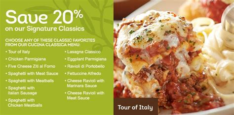 olive garden coupons red plum olive garden coupon 20 off signature classics more