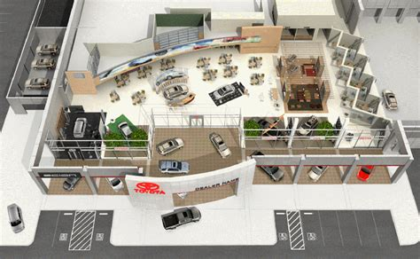 car showroom floor plan toyota image usa ii