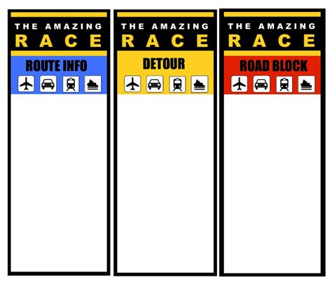 Route Card Template Scouts by How To Host An Quot Amazing Race Quot Birthday At Home