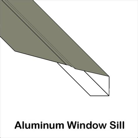 aluminum window sill with ridge trim bender