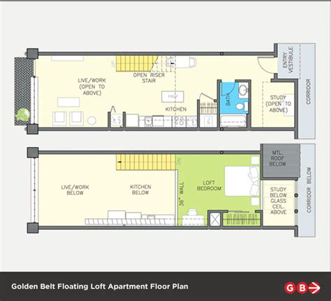 Attic Floor Plans by Floating Lofts Golden Belt