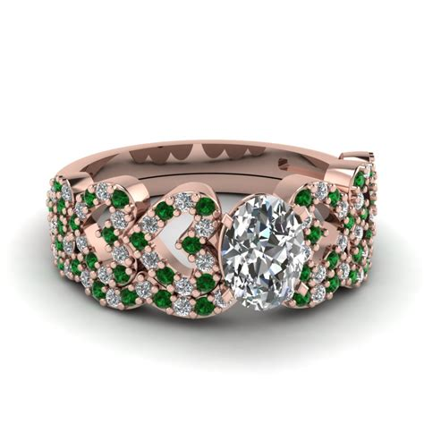 Buy Wedding Rings by Buy Emerald Wedding Ring Sets Fascinating Diamonds