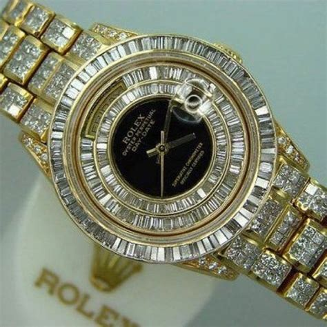 All Diamond & Gold Rolex   luxury   Pinterest