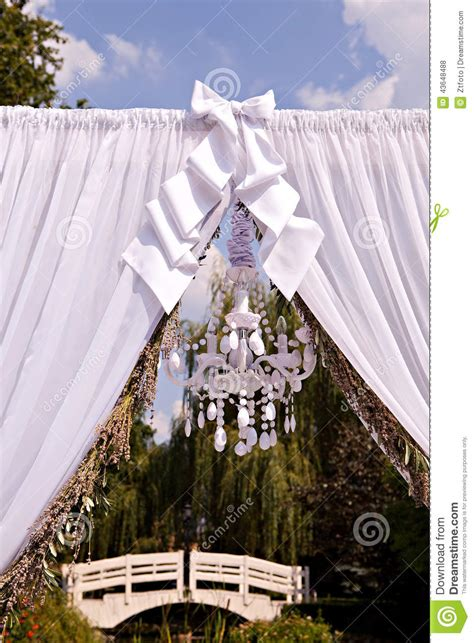 Chandelier Wedding Arch Wedding Arch With A Chandelier Stock Photo Image 43648488