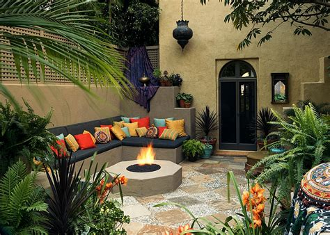 themed patio decor moroccan patios courtyards ideas photos decor and