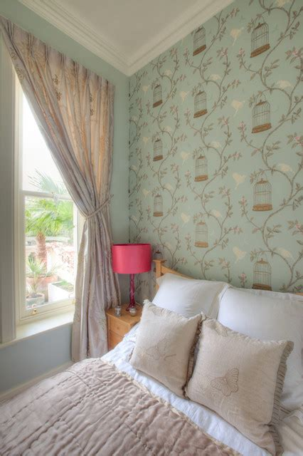 Duck egg and pink bedroom contemporary bedroom manchester uk by furnished by anna