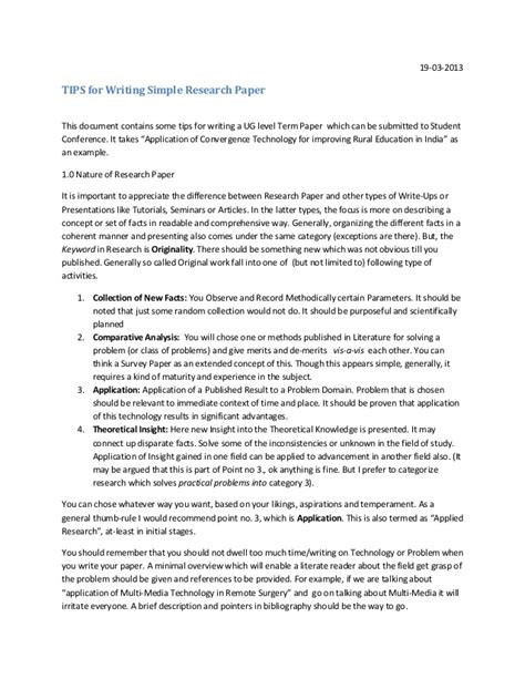 research paper writing guide writing research paper tips for students