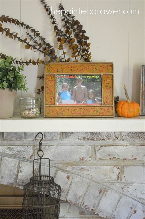 Hometalk   My Whitewashed Brick Mantel for Fall