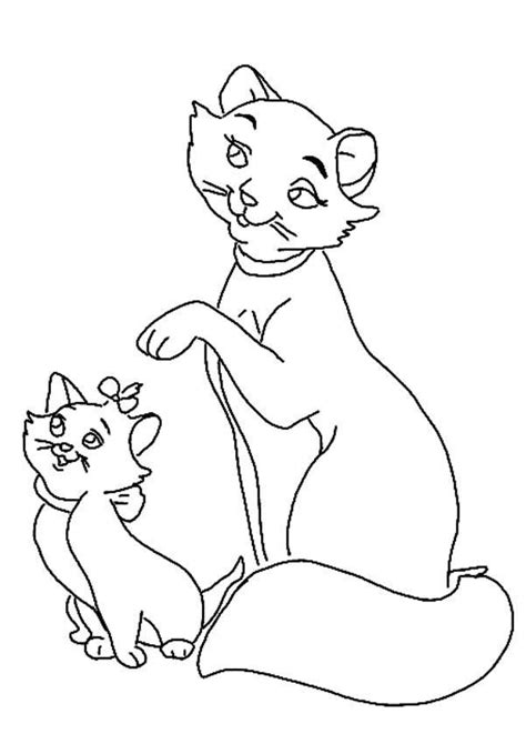 coloring pages fun the marie cat coloring pages