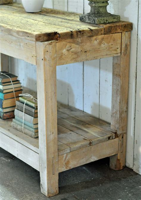 Kitchen Island Vintage Scrubbed Pine Vintage Kitchen Island Console Work Bench Home Barn Vintage