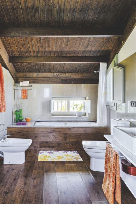 marvelous Studio Apartment Interior Design #3: studio-that-mix-rustic-with-modern-wood-bathroom.jpg