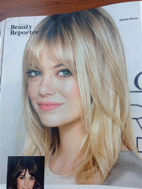 emma stone we re gonna bang 101 best bangs images on pinterest hairstyles longer