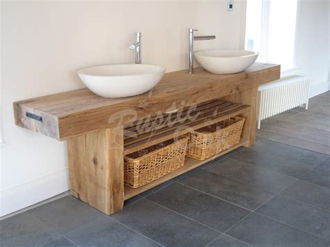 oak beam sink unit rustic oak