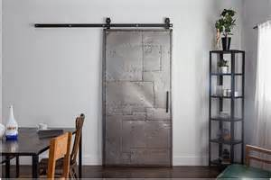 Metal Sliding Barn Doors Rustica Hardware Mountain Scrap Metal Door Top Mount