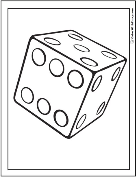 dice coloring pages