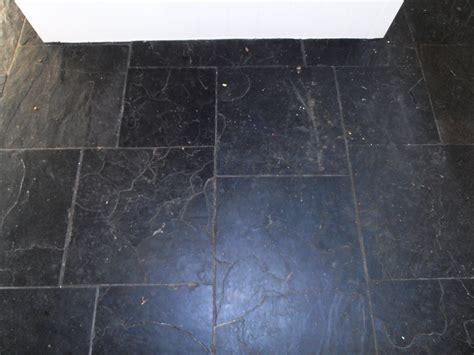 tired black slate tiled floor in sevenoaks restored kent