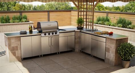 outdoor kitchen bunnings edelstahl arbeitsplatte f 252 r die k 252 che die vor und nachteile
