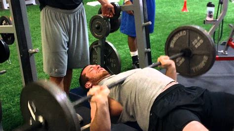 combine bench press brian mcnally nfl combine 225 bench press test youtube