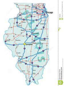 state road map illinois state road map royalty free stock photos image