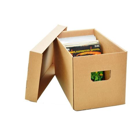 Boîte de rangement en carton pour singles 45T   Planète Disque