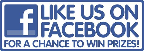 Facebook Prizes Giveaway - like us on facebook for a chance to win prizes